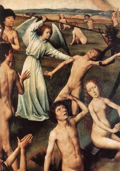 Last Judgment Triptych open 1467 1 detail8
